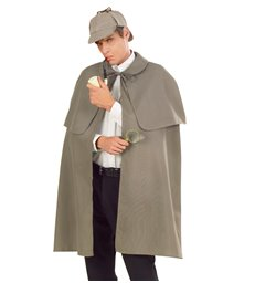 DETECTIVE CAPE GREY HEAVY FABRIC W/TIPPET