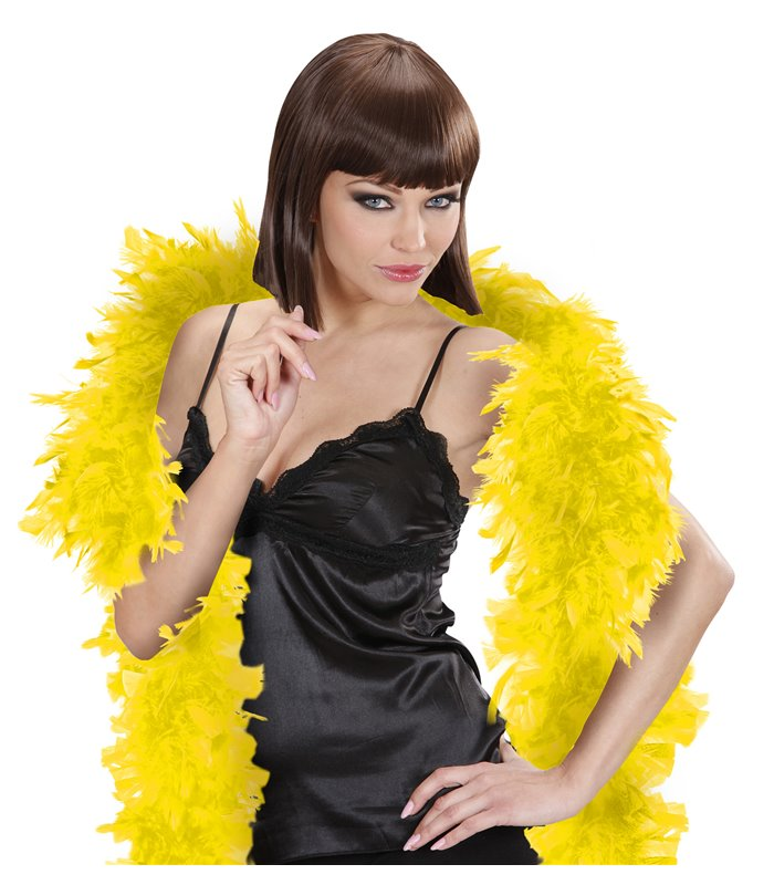 FEATHER BOA SMALL 180cm YELLOW