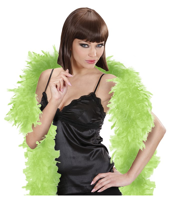 FEATHER BOA SMALL 180cm LIME GREEN