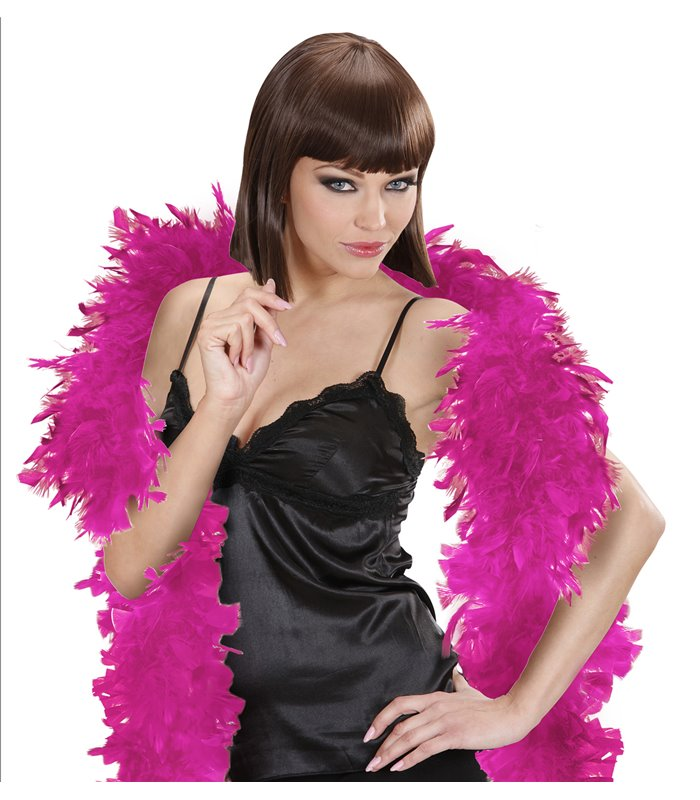 FEATHER BOA SMALL 180cm HOT PINK