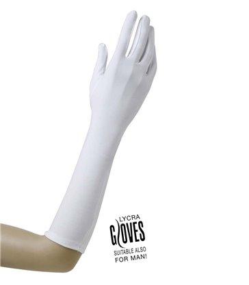 GLOVES LYCRA 37cm - WHITE