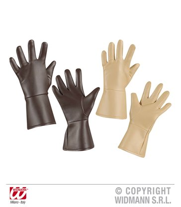 GLOVES L/LOOK - ADULT SIZE - BROWN or CREAM