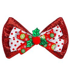RED GLITTER CHRISTMAS BOW TIE