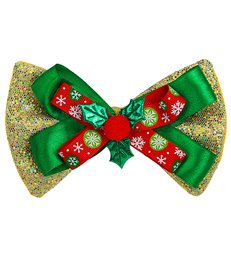 GOLD GLITTER CHRISTMAS BOW TIE