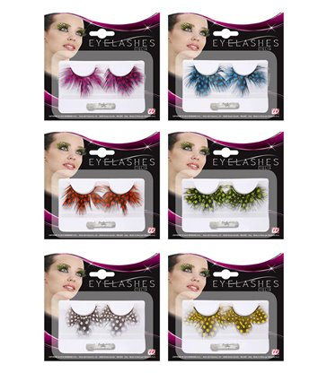 EYELASHES DOTTED FEATHERS - 6 colours