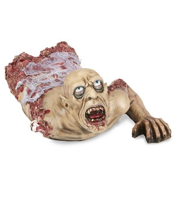 CRAWLING ZOMBIE BUST WITH GAUZE 72 cm
